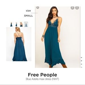 FREE People Blue Adella Maxi Dreas (NWT)